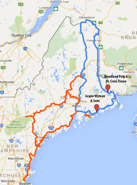 OTT Communications Brings Gigs To Northern Eastern ME - Map of eastern maine