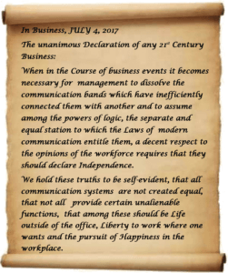 Business Communication Independence